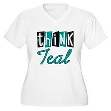 Think Teal Ovarian Cancer T-Shirt