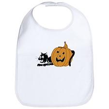 Black Cat and Jack-O-Lantern Bib