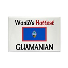World's Hottest Guamanian Rectangle Magnet