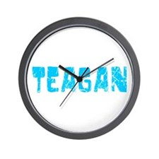 Teagan Faded (Blue) Wall Clock
