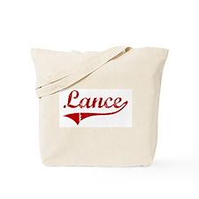 Lance (red vintage) Tote Bag