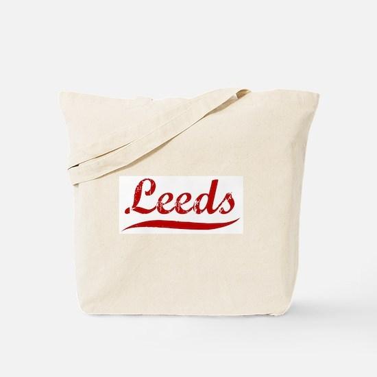 Leeds (red vintage) Tote Bag
