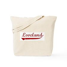 Loveland (red vintage) Tote Bag