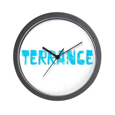 Terrance Faded (Blue) Wall Clock