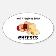 CHEESES Oval Decal