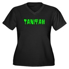 Taniyah Faded (Green) Women's Plus Size V-Neck Dar