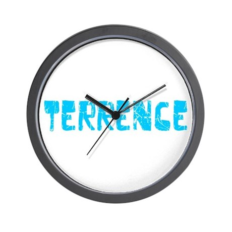 Terrence Faded (Blue) Wall Clock