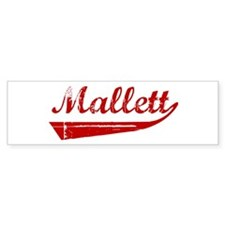 Mallett (red vintage) Bumper Bumper Sticker