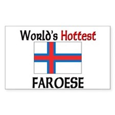 World's Hottest Faroese Rectangle Decal