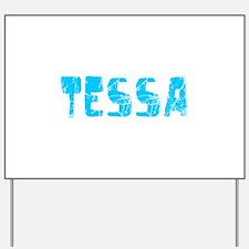Tessa Faded (Blue) Yard Sign