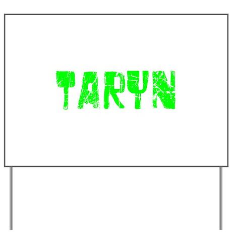 Taryn Faded (Green) Yard Sign