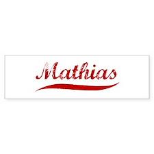 Mathias (red vintage) Bumper Bumper Sticker