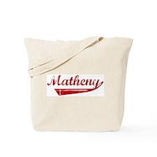 Matheny (red vintage) Tote Bag