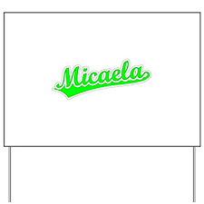 Retro Micaela (Green) Yard Sign