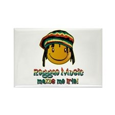 Reggae music makes me Irie! Rectangle Magnet