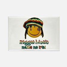 Reggae music makes me Irie! Rectangle Magnet