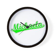 Retro Michaela (Green) Wall Clock