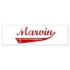 Marvin (red vintage) Bumper Bumper Sticker