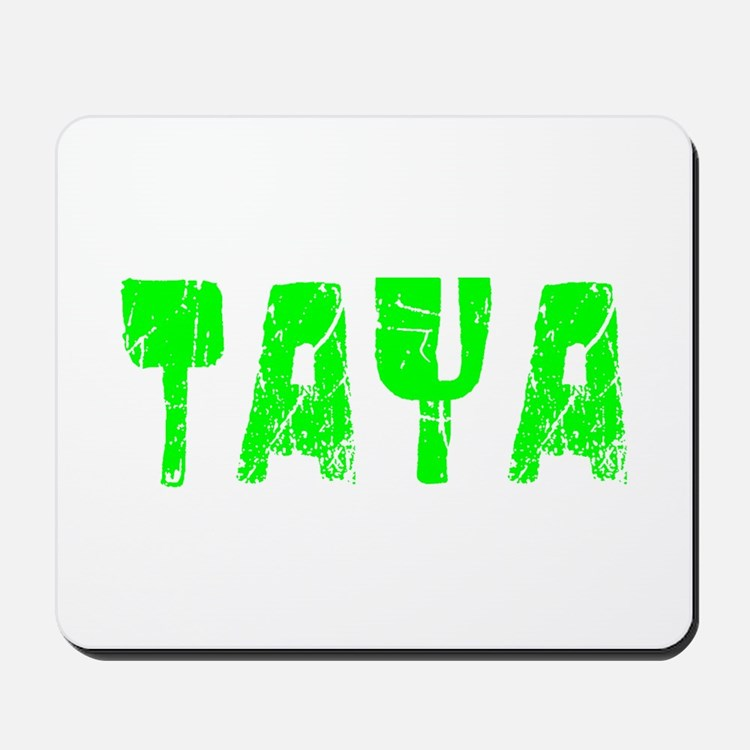 Taya Faded (Green) Mousepad
