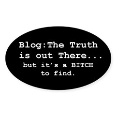 Blog: The Truth is Out There Oval Decal