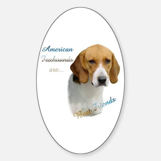 Foxhound Best Friend1 Oval Decal