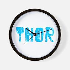 Thor Faded (Blue) Wall Clock