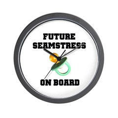 Maternity - Future Seamstress Wall Clock