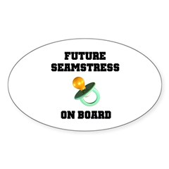 Maternity - Future Seamstress Oval Decal
