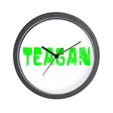 Teagan Faded (Green) Wall Clock