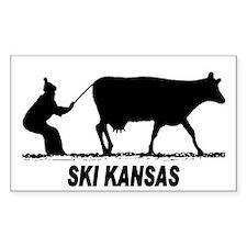 Ski Kansas Rectangle Decal