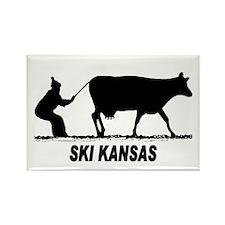 Ski Kansas Rectangle Magnet (10 pack)