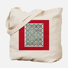 Christmas Holiday Quilt Tote Bag