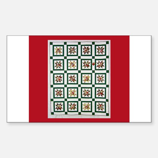 Christmas Holiday Quilt Rectangle Decal