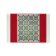 Christmas Holiday Quilt Rectangle Magnet (10 pack)