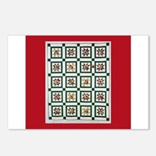 Christmas Holiday Quilt Postcards (Package of 8)