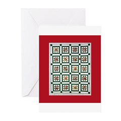 Christmas Holiday Quilt Greeting Cards (Pk of 10)
