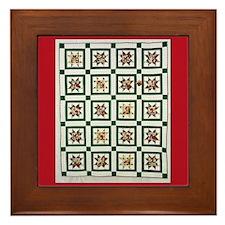 Christmas Holiday Quilt Framed Tile