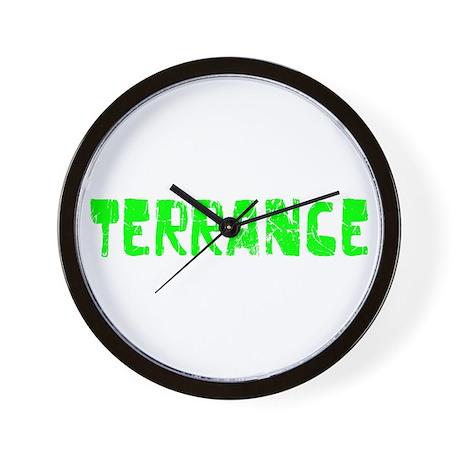Terrance Faded (Green) Wall Clock