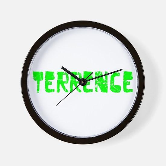 Terrence Faded (Green) Wall Clock