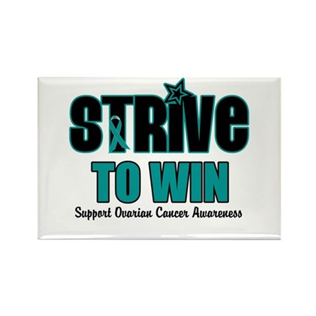 Ovarian Cancer Win Rectangle Magnet