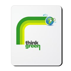 Think Green Earth Rainbow Mousepad
