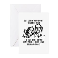 I Love Sewing More Greeting Cards (Pk of 10)