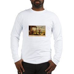 Vintage Sewing Machine Ad Long Sleeve T-Shirt