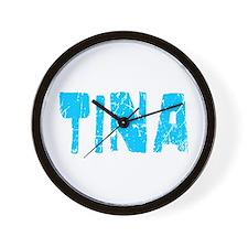 Tina Faded (Blue) Wall Clock