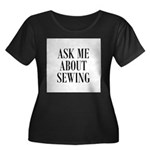 Ask Me About Sewing Women's Plus Size Scoop Neck D