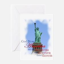 God Bless America - Greeting Card