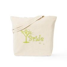 Yellow Curly Martini Bride Tote Bag