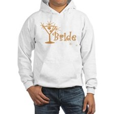 Orange Curly Martini Bride Hoodie