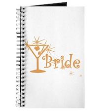 Orange Curly Martini Bride Journal