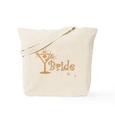 Orange Curly Martini Bride Tote Bag